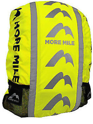 NEW More Mile Reflective Safety Backpack Cover WATERPROOF  fluorescent YELLOW