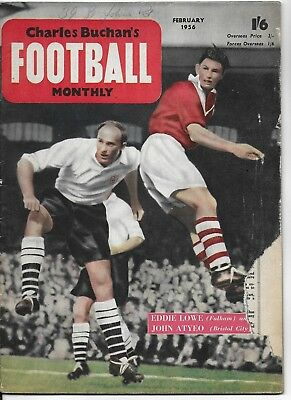 CHARLES BUCHAN'S FOOTBALL MONTHLY MAGAZINE FEBRUARY 1956 Issue No.54