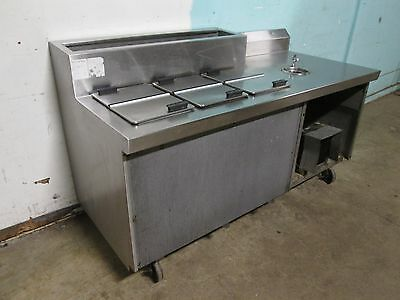 """""""Randell"""" Hd Commercial Ice Cream Dipping Freezer With Refrigerated Topping Rail"""