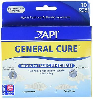 API General Cure Freshwater Saltwater Fish Powder Medication 10-Count 1 Box New