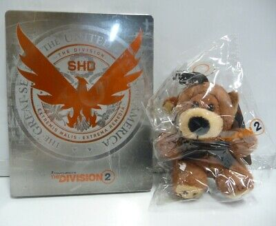 The Division 2 Peluche Tommy Bear + Steelbook Ps4 Xboxone New No Game