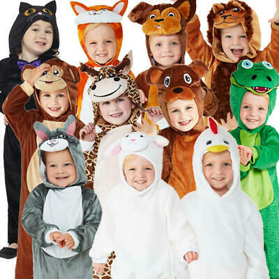 Animal Kids Fancy Dress Zoo World Book Day Boys Girls Toddlers Costume Outfits