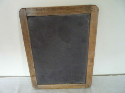 Original Antique Victorian Childs School Writing Slate Chalkboard Notice List