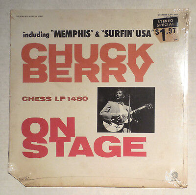 """Vintage 12"""" Vinyl Lp Record Chuck Berry On Stage Sealed Chess 1480 Unopened Cout"""