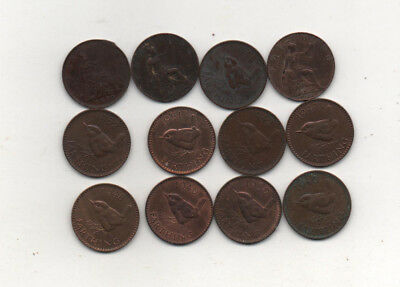 Britain 12 farthings 1884, 1917 plus George V1 joblot