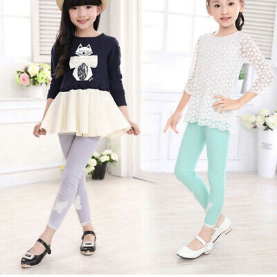 2aca3b9cc Cute Leggings Butterfly Baby Girls Kids Trousers Party Clothes Toddler Child