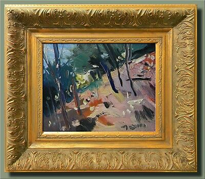 Jose Trujillo Ornate Framed Oil Canvas Painting American Impressionist Modern