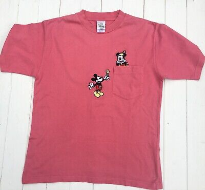Vintage Disney Store Embroidered Mickey Minnie Mouse T Shirt | Mens Size S |