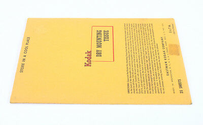 KODAK DRY MOUNTING TISSUE, 5X7, 25 SHEETS, SOLD FOR DISPLAY/cks/198239