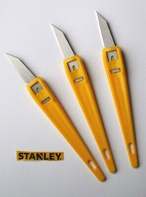 Pack 3 Stanley 0-10-601 For Precision Craft Modelling Woodworking