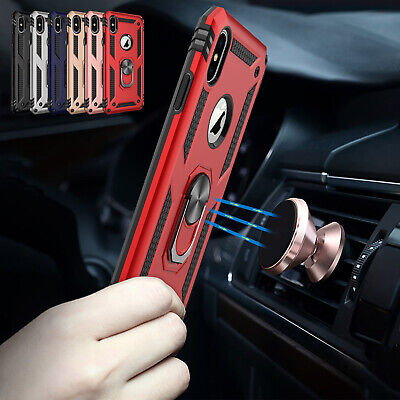 For iPhone 8 Plus Case 7 Magnetic Heavy Duty 360º Holder Hybrid Hard Stand Cover