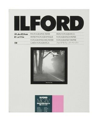 Ilford MGIV Multigrade IV RC De Luxe Glossy 8 1/2 x 11 Photo Paper - 50 Sheets