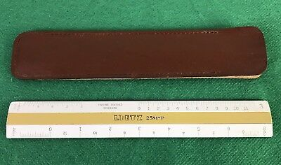 Vintage A. Lietz 2581-P Ruler Rule With Case Made in Denmark