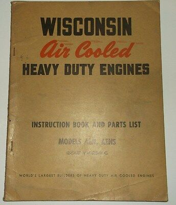 Wisconsin Air Cooled Heavy Duty Engines Model AEN AENS Manual