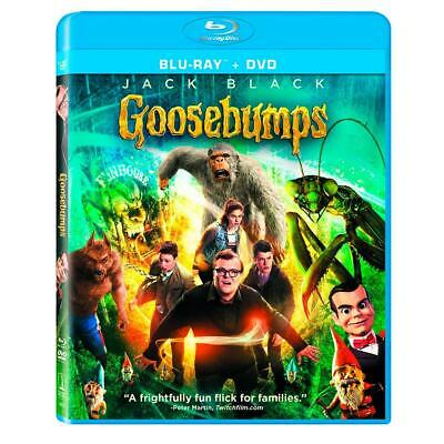 Goosebumps (Blu-ray/DVD, 2016, 2-Disc Set, Includes Digital Copy) NEW