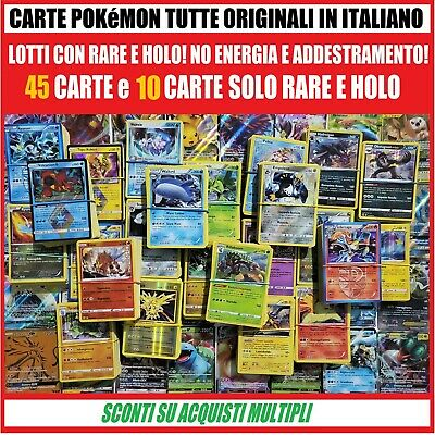 🍀Lotto 45 90 carte Pokémon molte RARE in ITALIANO + 1 GX-EX!! Pokemon🍀