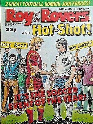 Roy of the Rovers 04/02/89 old football all usual storys + manchester utd & scot