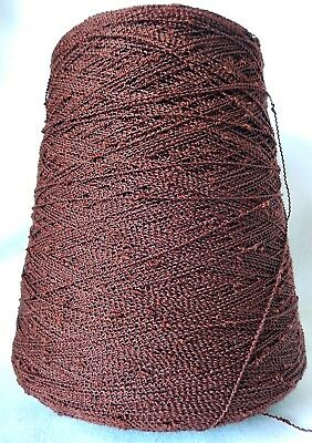 Hobby 1 Cone Knitting Machine Fine Brown Yarn - 500g - Pre Owned Unused