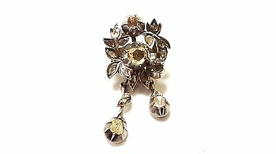 Antique Vintage Diamond 14K Yellow Gold & Silver Pin Brooches Victorian Jewelry