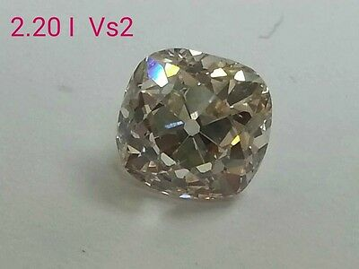 b2.20ct Old Cushion Cut Diamond With I Color VS2 Clarity Engagement Ring Jewelry