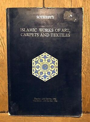 Sotheby's Islamic Works Of Art Carpets And Textiles Collectible Catalogue