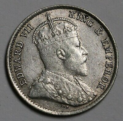 1904 Hong Kong 5 Cents Silver Coin Edward VII KM# 12