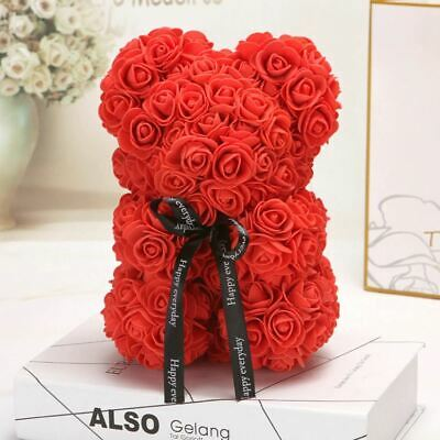 Red Rose Flower Teddy Bear 10"
