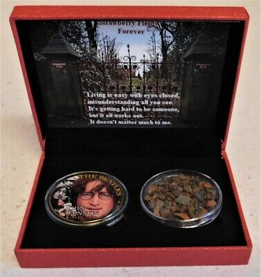 Beatles John Lennon Strawberry Field Children's Home Boxed Brick and Color Coin