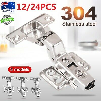 12/24/36 x Soft Close Door 110° Hinges Kitchen Cabinet Cupboard Wardrobe+Screws