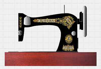 Singer Model 28/128 Victorian Style Sewing Machine Restoration Decals 3 Color
