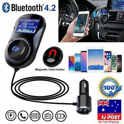Handsfree Bluetooth Car FM Transmitter Radio Wireless MP3 Player USB Charger AU