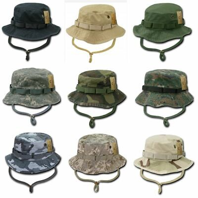 eed7bb6d08414 Boonie Hat Multi Cam Rip Stop OD Green Army Military USMC Infantry P38.