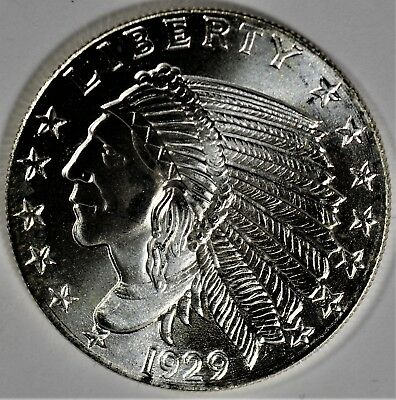 One 1929 Golden State Mint HALF oz Silver Indian Head (b519c)