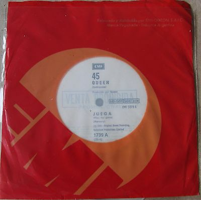 """QUEEN 45 PROMO Play The Game  SOUTHAMERICA 7"""" 1980 Spanish Titles"""