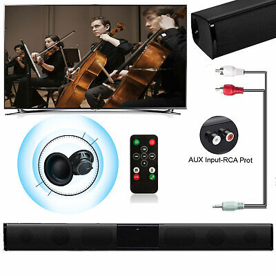 TV Sound Bar Subwoofer with Bluetooth Audio Powerful and Clear