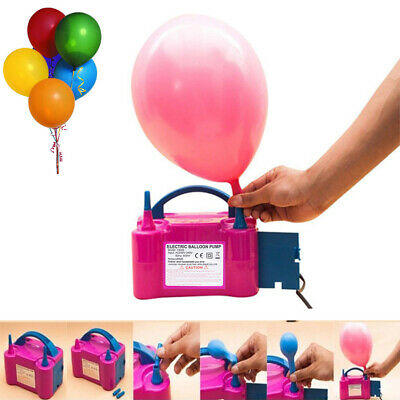 Portable 600W Electric Balloon Pump Inflator Air High Power Blower 2Nozzle Party