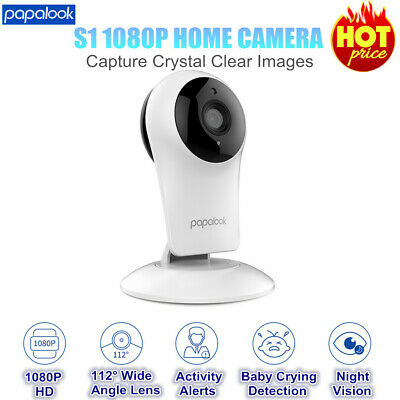 PAPALOOK HD 1080P Wireless Wifi Security IP Camera Baby Pet Monitor Night Vision