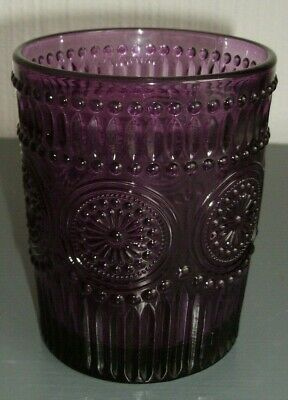 Homes Etc. ~ Vintage Style Drinking Purple Glass Or Candle Holder
