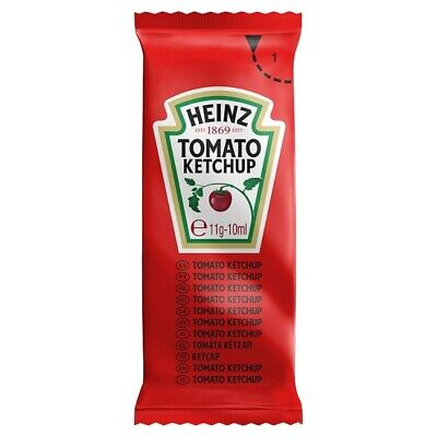 HEINZ TOMATO KETCHUP SAUCE QUANTITY 50 x 12g PORTIONS CATERING SACHETS