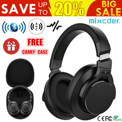 Mixcder Bluetooth Wireless Noise Cancelling Headphones Headset Over-Ear Earphone