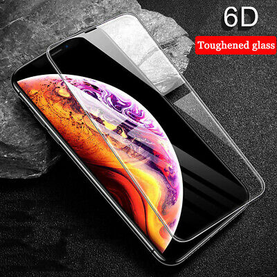 For iPhone Xs Max XR 6D Curved Full Cover Screen Protector 9H Tempered Glass UK