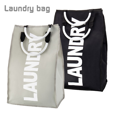 1PCS Foldable Laundry Washing Basket Fabric Bag Hamper Dirty Clothes Storage Bin