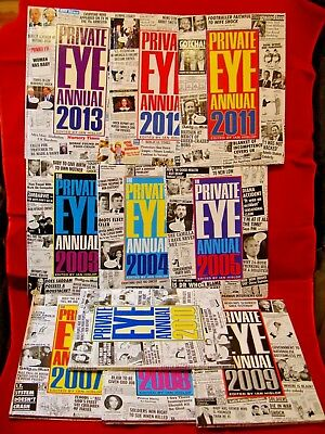 Private Eye Annuals x 10,  Very Good Condition Hardback Books Bundle
