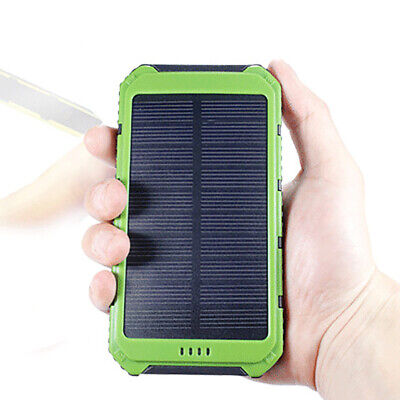 High Quality Solar Waterproof Power Bank Dual USB Portable Charger Case Cover