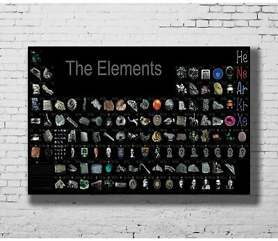 Hot periodic table of the elements New Art Poster 40 12x18 24x36 T-461