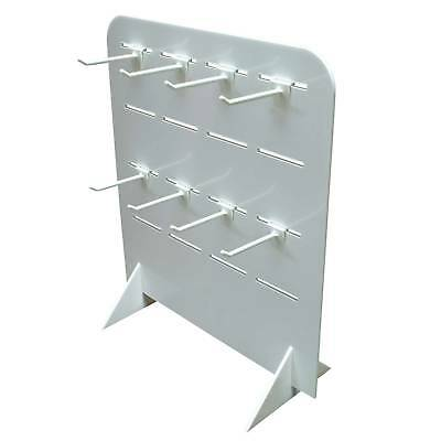 Slatwall Counter Stand Black or White With 16 Hooks Acrylic Shop Display (DS20+)