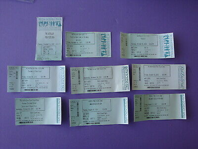 Lot of 9 Australian & Aussie Pink Floyd Tribute Band Concert Tickets Clearwater