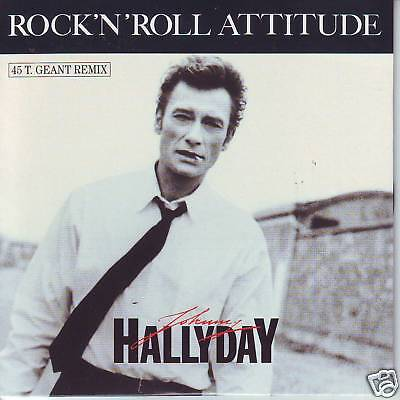 CD 2 titres JOHNNY HALLYDAY rock'n'roll attitude (maxi)
