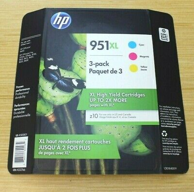 951-TRI COLOR INK-CARTRIDGE-4-PACK-C2P01FN-.EXP 9.//2020 GENUINE HP-950XL-BLACK