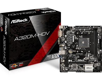 ASRock A320M-HDV mATX Motherboard for AMD AM4 CPUs